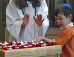 Blessing a child